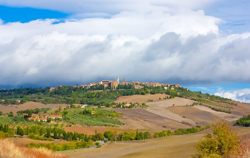 The Tuscan town of Pienza, one of the top ten in Tuscany, is not far from Florence