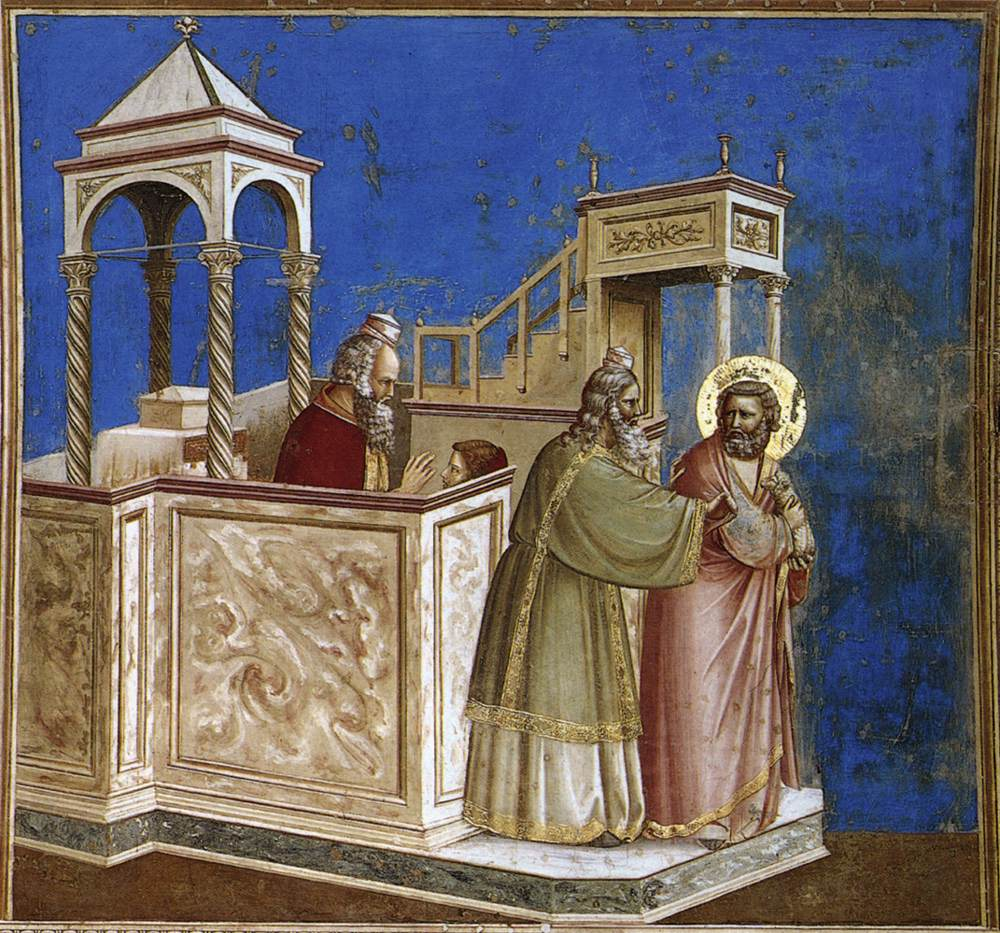 Expulsion from the Temple, in the Arena Chapel in Padua, Italy