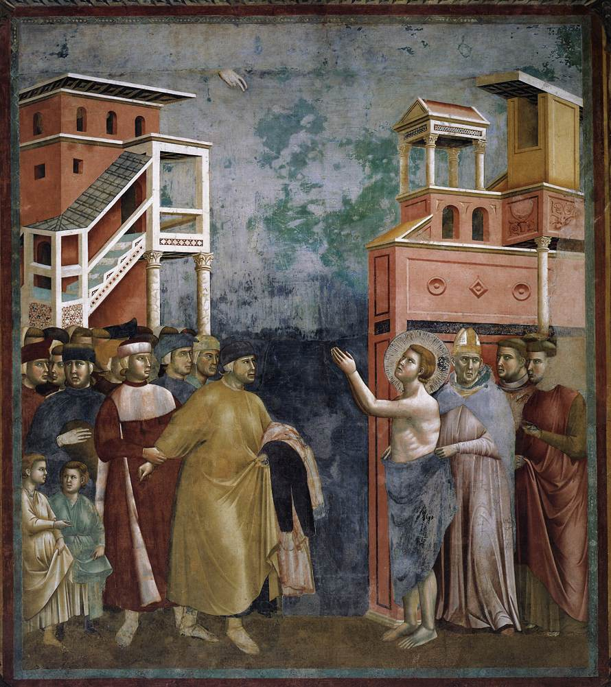 Fresco by Giotto in the basilica of San Francesco of Assisi
