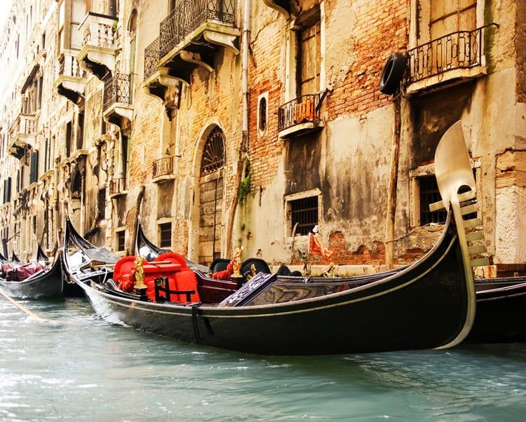 Venetian gondola in Venice