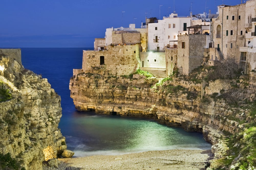 The beach at Polignano a Mare