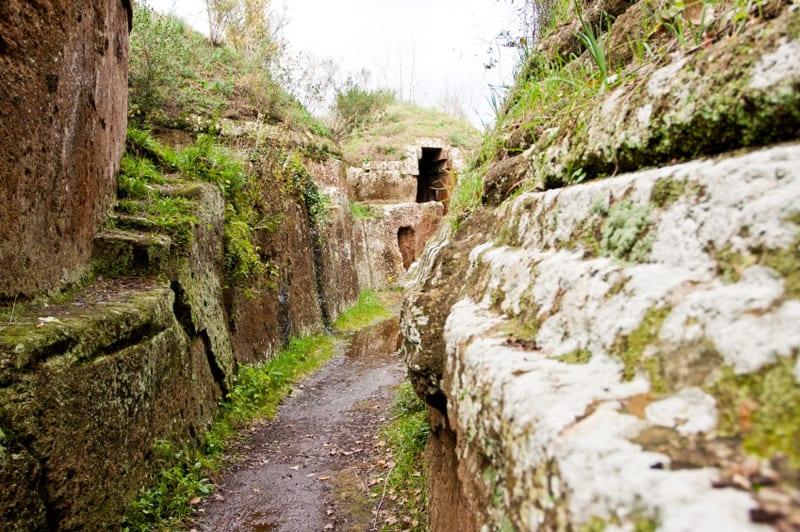 Etruscan necropolis in Cerveteri