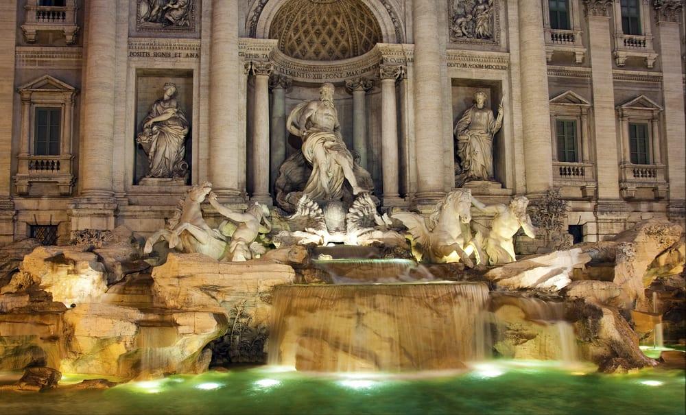 Rome's beautiful Trevi fountain.