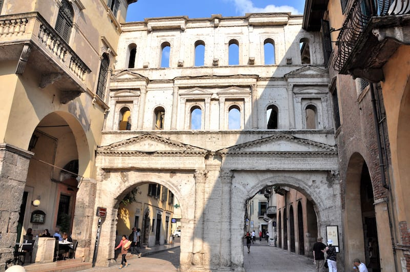 Just another ancient ruin in Verona: Porta Borsari