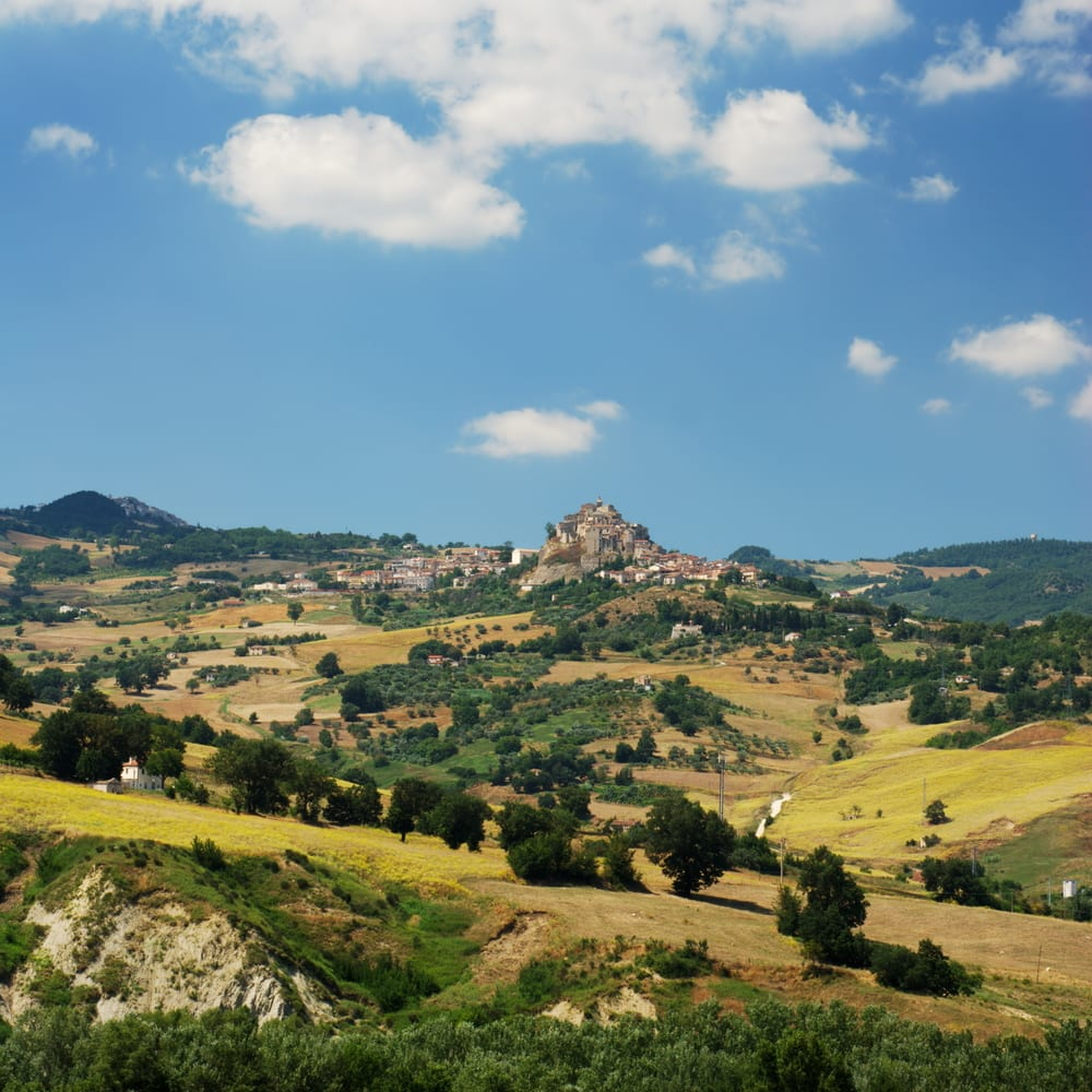 The villages of Limosano and S. Angelo Limosano, in the region of Molise