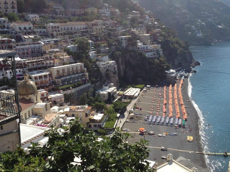 Spiaggia Grande, a beach on the Amalfi coast