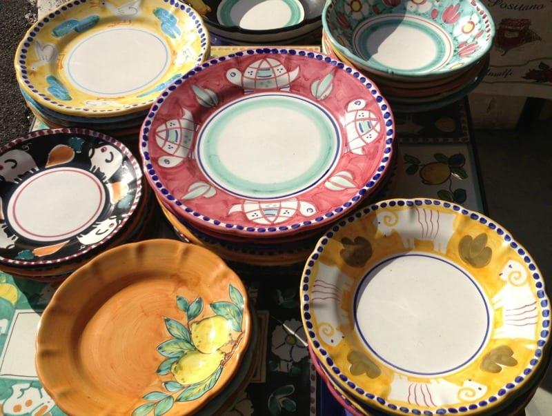 Ceramic shopping in Positano Italy