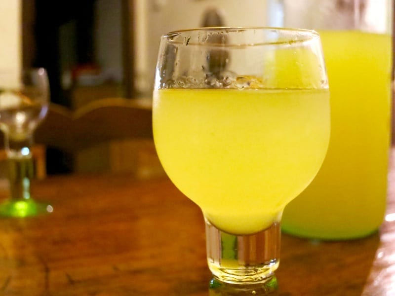 Italy drink limoncello