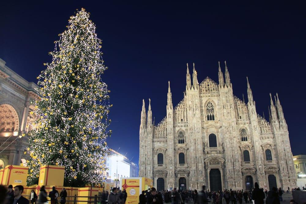 Christmas Milan duomo tree