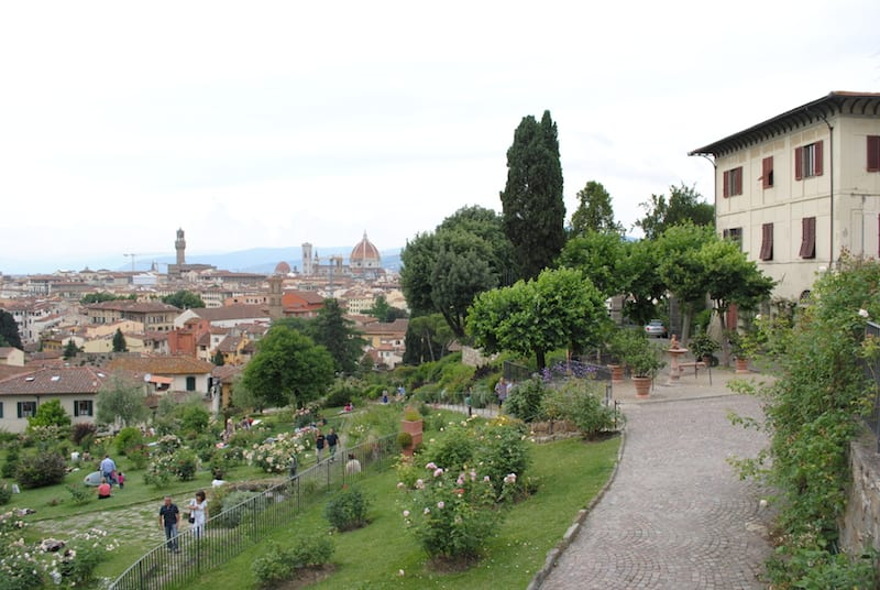Rose Garden in Florence, Tuscany