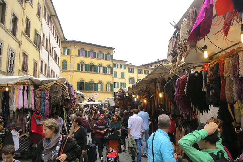 Shopping in Florence, San Lorenzo market