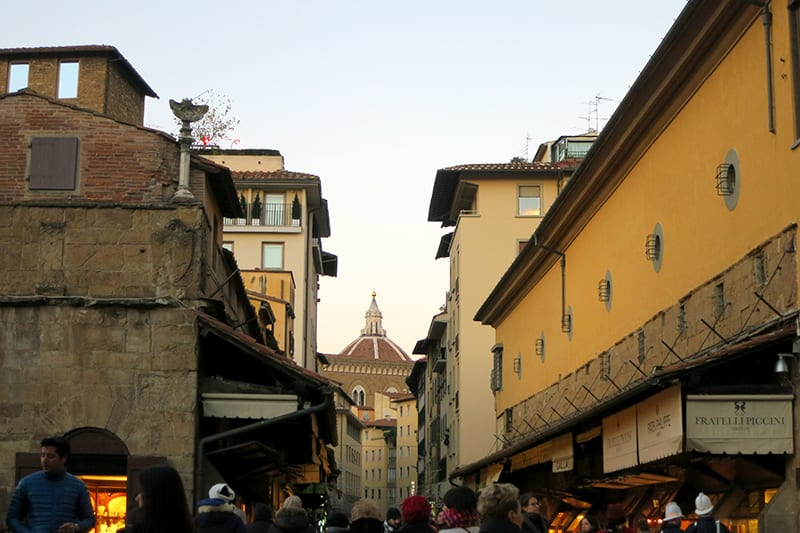 Shopping in Florence on Ponte Vecchio