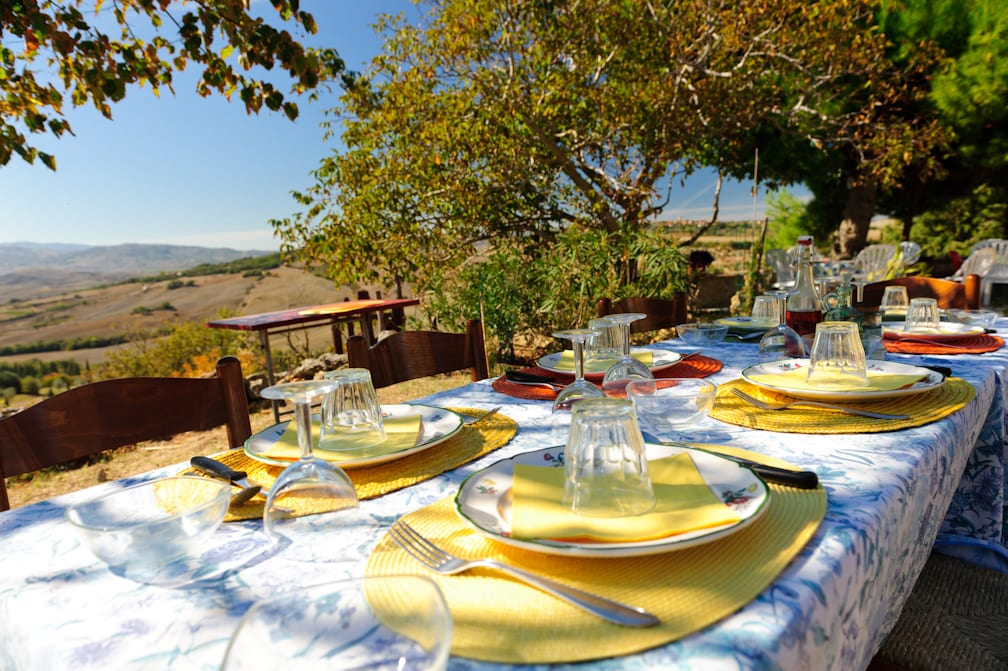 Lunch on our on our Tuscany from Rome Day Trip