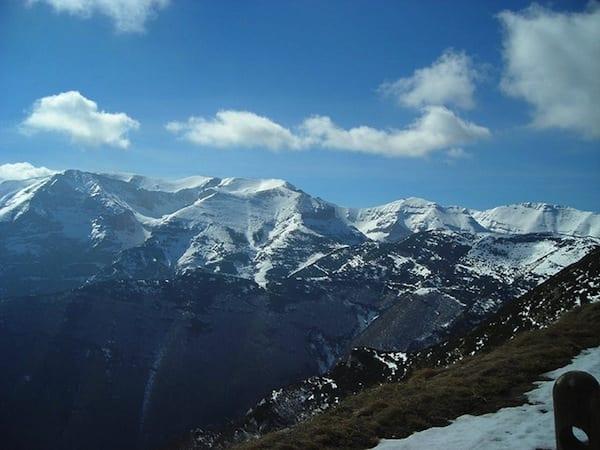 The Manjella covered in snow. Photo by Vito Manzari