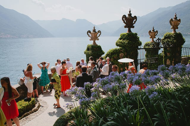 One of the many bonuses of getting married in Italy? Your reception might have a backdrop like this! Photo by John Hope