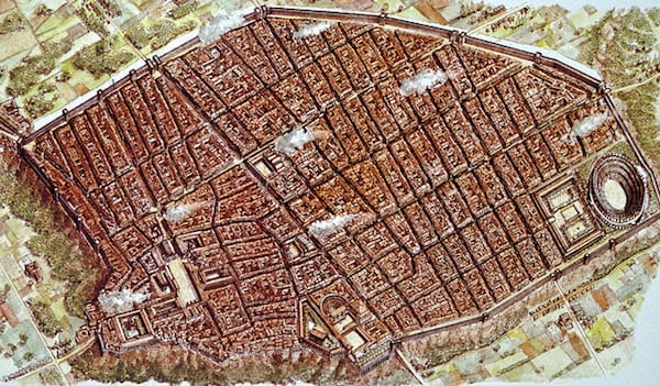 A 1912 Map of Pompeii shows the sites enormous proportions. Photo by Dennis Jarvis