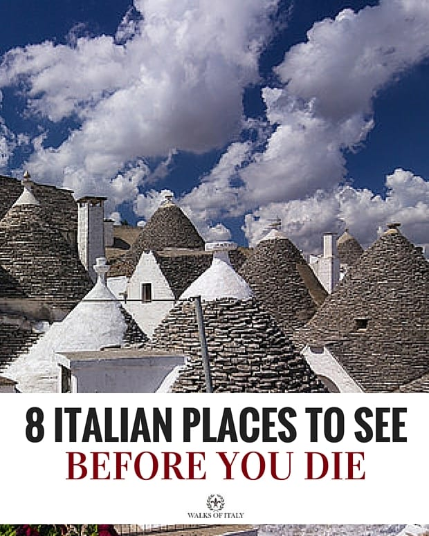 There are the top 8 Italian places to visit before you die. See where you've been and what still needs to go on the bucket list!