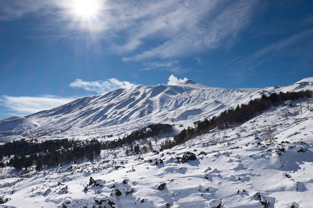 Mt. Etna in the winter has some beautiful ski slopes. Find out why you should visit Mt. Etna on the Walks of Italy blog.