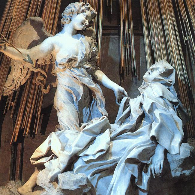 The Ecstacy of Saint Teresa was a clear departure from the religious art of the past, but once critics overcame their shock, the sculpture came to be widely regarded as an exceptional depiction and work of art. Photo by Napoleon Vier