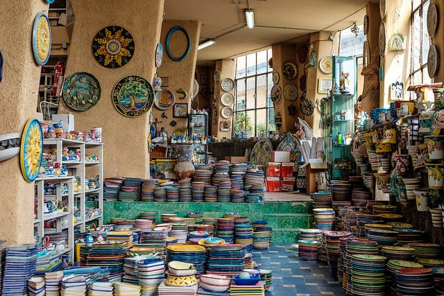 Vietri sul Mare is filled with shops selling the areas famous majolica pottery. Photo by Kārlis Dambrāns