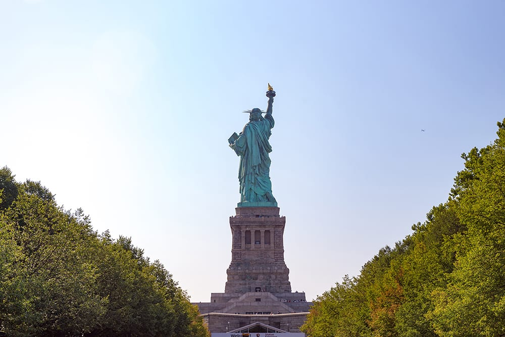 Statue of Liberty from behind